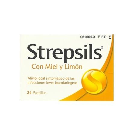 STREPSILS 24 PASTILLAS PARA CHUPAR LIMÓN