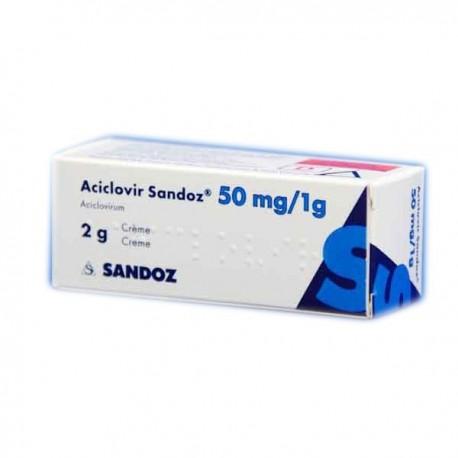 ACICLOVIR SANDOZ  5 % 2G CREMA
